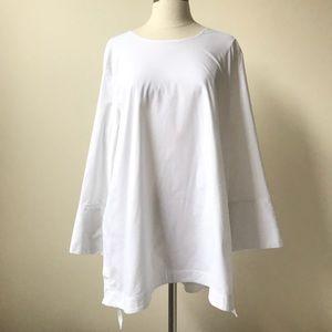 j.jill Aline White Shirt Collection Tunic Top